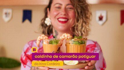 Caldinho de camarão potiguar da Irina Cordeiro: assista ao vídeo e aprenda a fazer