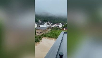 Santa Catarina shows where the family suffered after the floods in Germany