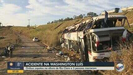 Polícia vai ouvir motorista e passageiros de ônibus após acidente que deixou 3 mortos