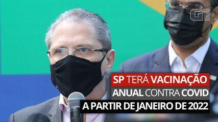 VÍDEO: governo de SP diz que vai começar campanha anual de vacinação contra Covid-19 em janeiro de 2022