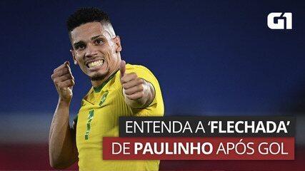 VÍDEO: Paulinho simula atirar flecha em homenagem ao orixá Oxóssi em comemoração de gol