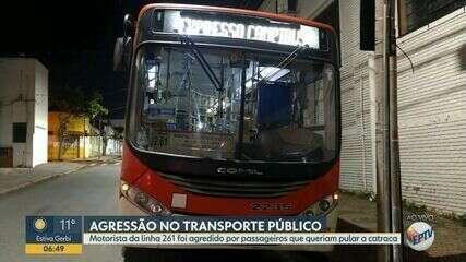 Motorista de ônibus é agredido por passageiros que queriam pular a catraca em Campinas