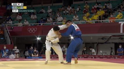Eric Takabatake leva ippon no golden score e também é eliminado dos jogos de Tóquio