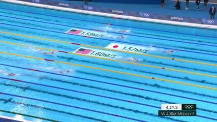Ohashi Yui (JAP) vence a final dos 400m medley feminino na natação