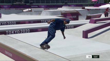 Kelvin Hoefler faz sua primeira volta na final do skate street