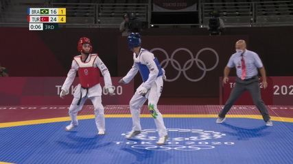 Netinho Marques perde para turco e fica na torcida pela repescagem do bronze, no taekwondo masculino