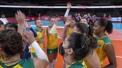 Melhores momentos: Brasil 3 x 0 Coreia do Sul pelo vôlei feminino nas Olimpíadas de Tóquio 2020