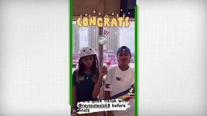 Filipina Margielyn Arda Didal ganha simpatia dos brasileiros após parceria com Rayssa Leal