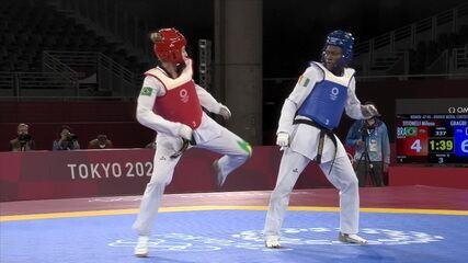 Milena Titoneli é derrotada por Ruth Gbgabi na disputa pelo bronze do taekwondo