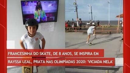 Francesinha do skate se inspira em Rayssa Leal, prata da Tókyo 2020: 'fiquei viciada nela'
