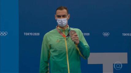 Fernando Scheffer garante o bronze nos 200m livre da natação: 'Parece que estou sonhando'