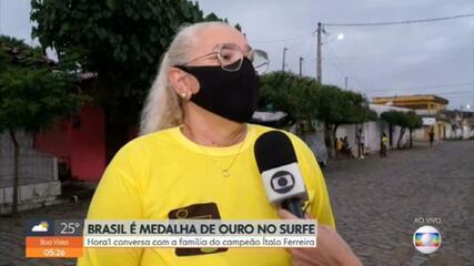 Mãe de Italo Ferreira diz que filho prometeu medalha de ouro