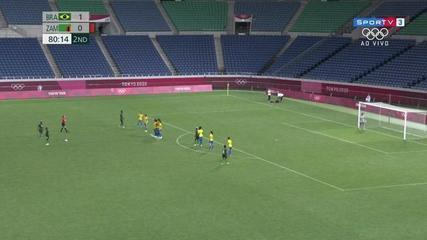 Melhores momentos de Brasil 1 x 0 Zâmbia pelo futebol feminina nas Olimpíadas de Tóquio