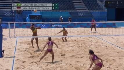 2º set: dupla brasileira assume o placar pela primeira vez: 2 a 1
