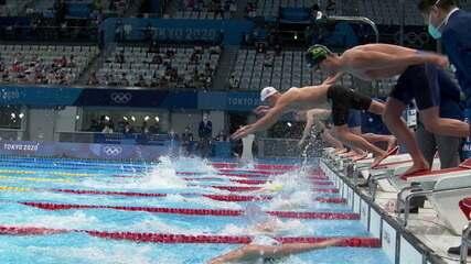Brasil termina em oitavo, e Grã-Bretanha leva o ouro no revezamento 4x200m livre masculino na natação