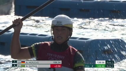 Ana Sátila faz a segunda descida no c1 na canoagem slalom com 109.90