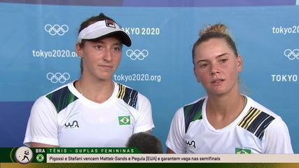 Laura Pigossi e Luisa Stefani falam sobre a classificação histórica para a semifinal no tênis