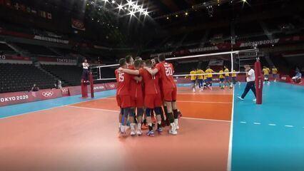 Melhores momentos: Brasil 0 x 3 Comitê Olímpico Russo pelo vôlei masculino das Olimpíadas