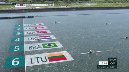 Lucas Verthein chega em quinto na semifinal de Skiff simples no remo dos Jogos de Tóquio
