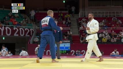 Rafael Buzacarini leva golpe no último minuto e é derrotado pelo belga Toma Nikiforov no judô
