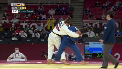 Mayra Aguiar leva golpe no golden score e perde para alemâ nas quartas de final do judô