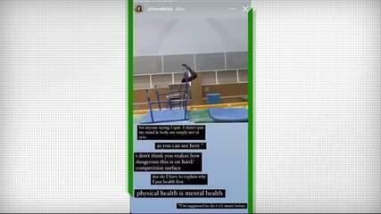 Simone Biles explica em rede social a desistência da competição de ginástica por equipes