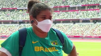 Izabela da Silva fala sobre a classificação para a final do lançamento de disco