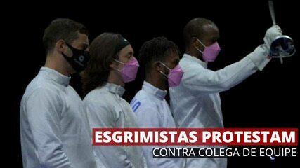 Esgrimistas dos EUA protestam contra colega de equipe acusado de assédio