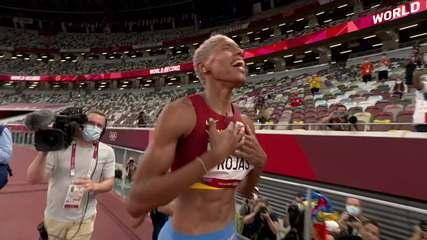 Yulimar Rojas é ouro no salto triplo e bate recorde mundial e olímpico - Olimpíadas de Tóquio
