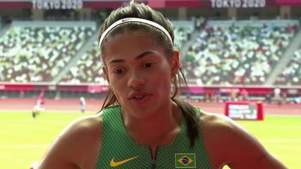 """Ana Carolina Azevedo fala sobre prova dos 200m: """"Entrei consciente de que peguei uma série forte"""""""