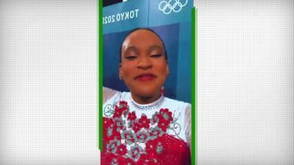 Rebeca Andrade se diz realizada após final do solo - Olimpíadas de Tóquio
