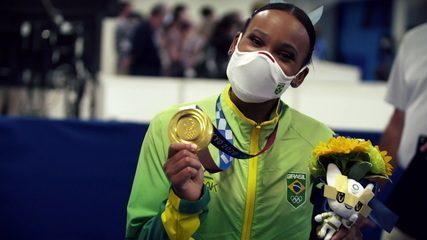 Veja um clipe especial com momentos da participação de Rebeca Andrade na ginástica artística - Olimpíadas de Tóquio