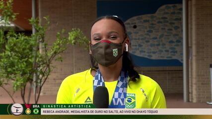 Rebeca Andrade é entrevistada no Ohayo e comenta a emoção de ser medalhista olímpica