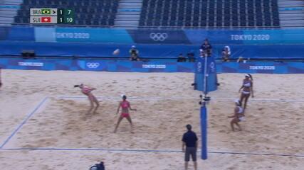 Melhores momentos: Ana Patrícia/Rebecca (BRA) (1) x (2) Vergé-Dépré/Heidrich (SUI) - Olimpíadas de Tóquio