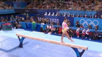 Flavia Saraiva faz apresentação na trave - Olimpíadas de Tóquio
