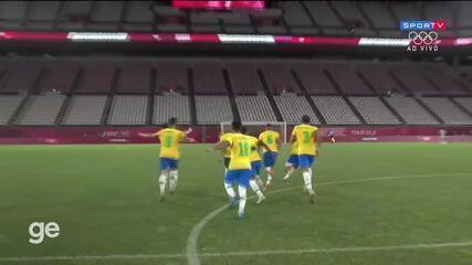 Melhores momentos de México 0 (1) x (4) 0 Brasil pela semifinal do futebol masculino