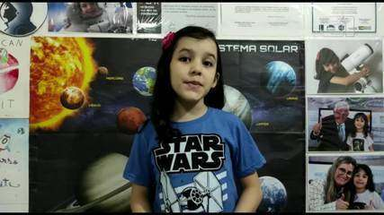 Nicole Oliveira a sócia mais jovem em uma instituição de astronomia do Brasil.