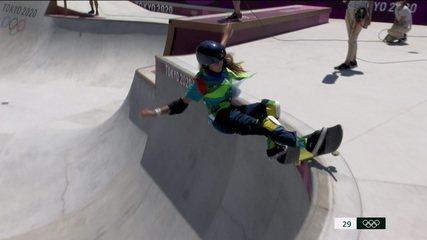 Veja as voltas Yndiara Asp na final do skate park - Olimpíadas de Tóquio