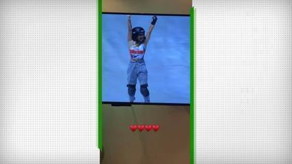 Letícia Bufoni posta vídeo torcendo por Sky Brown - Olimpíadas de Tóquio