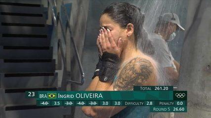 Ingrid Oliveira chora após terminar a fase classificatória na 24ª colocação