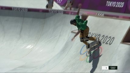 Veja as voltas de Pedro Quintas na bateria classificatória do skate park - Olimpíadas de Tóquio