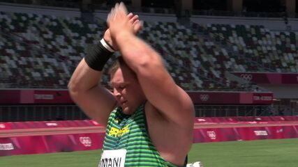 Darlan Romani não supera os 22m e termina na quarta colocação no arremesso de peso - Olimpíadas de Tóquio
