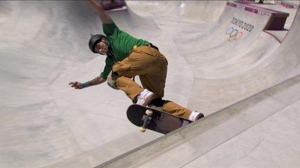 Pedro Quintas erra e faz 35.54 na segunda volta da final do skate park - Olimpíadas de Tóquio