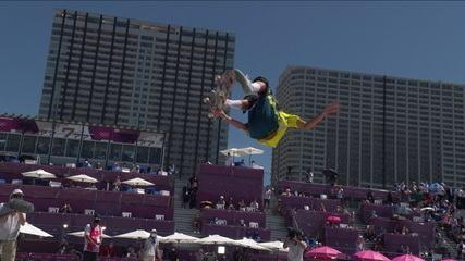 Campeão no skate park, Keegan Palmer faz mais uma volta excelente e fica com 95.83 pontos - Olimpíadas de Tóquio