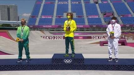 Confira o pódio do skate park! Brasil conquista prata com Pedro Barros - Olimpíadas de Tóquio