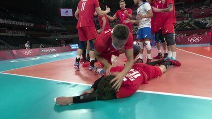 Melhores momentos: Brasil 1 x 3 Comitê Olímpico Russo pela semifinal do vôlei masculino nas Olimpíadas de Tóquio