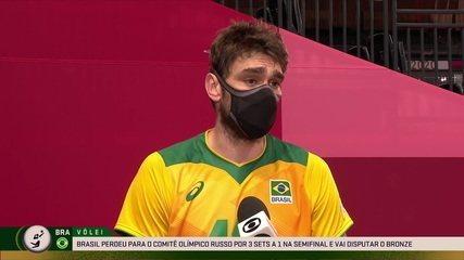"""Primeira vez sem ir à final olímpica, Lucão avalia: """"A culpa foi nossa de colocá-los de novo no jogo"""""""