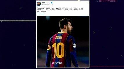 Barcelona confirma que Messi não seguirá no clube nessa temporada