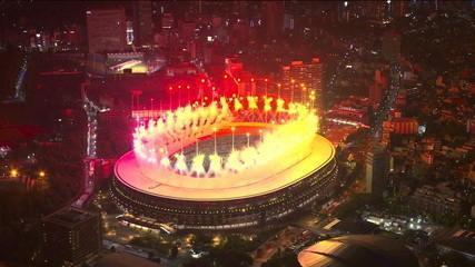 """""""Arigato"""": Tóquio se despede dos Jogos Olímpicos com show de fogos de artifício - Olimpíadas de Tóquio"""