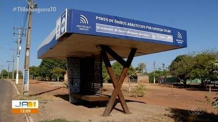 Paradas de ônibus tecnológicas de Palmas não possui nenhum serviço funcionando